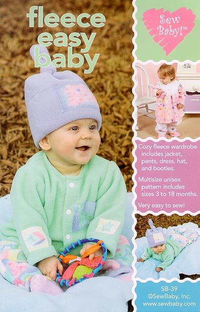 Sew Baby SewBaby Fleece-Easy Baby Wardrobe Pattern 39