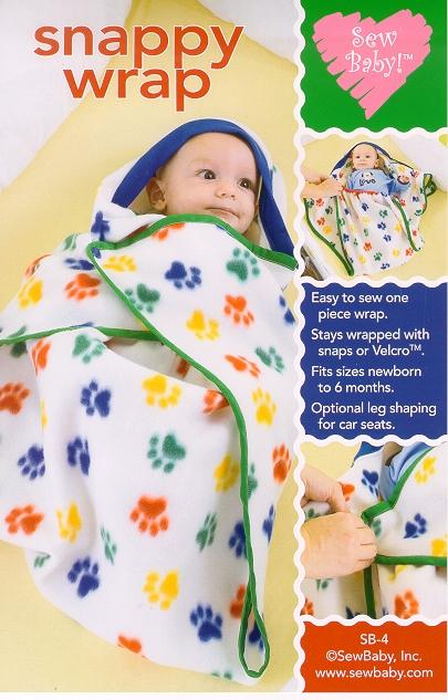 Sew Baby SewBaby Snappy Wrap Pattern 4