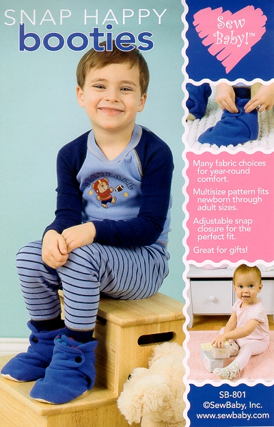 Sew Baby SewBaby Snap Happy Booties Pattern 801