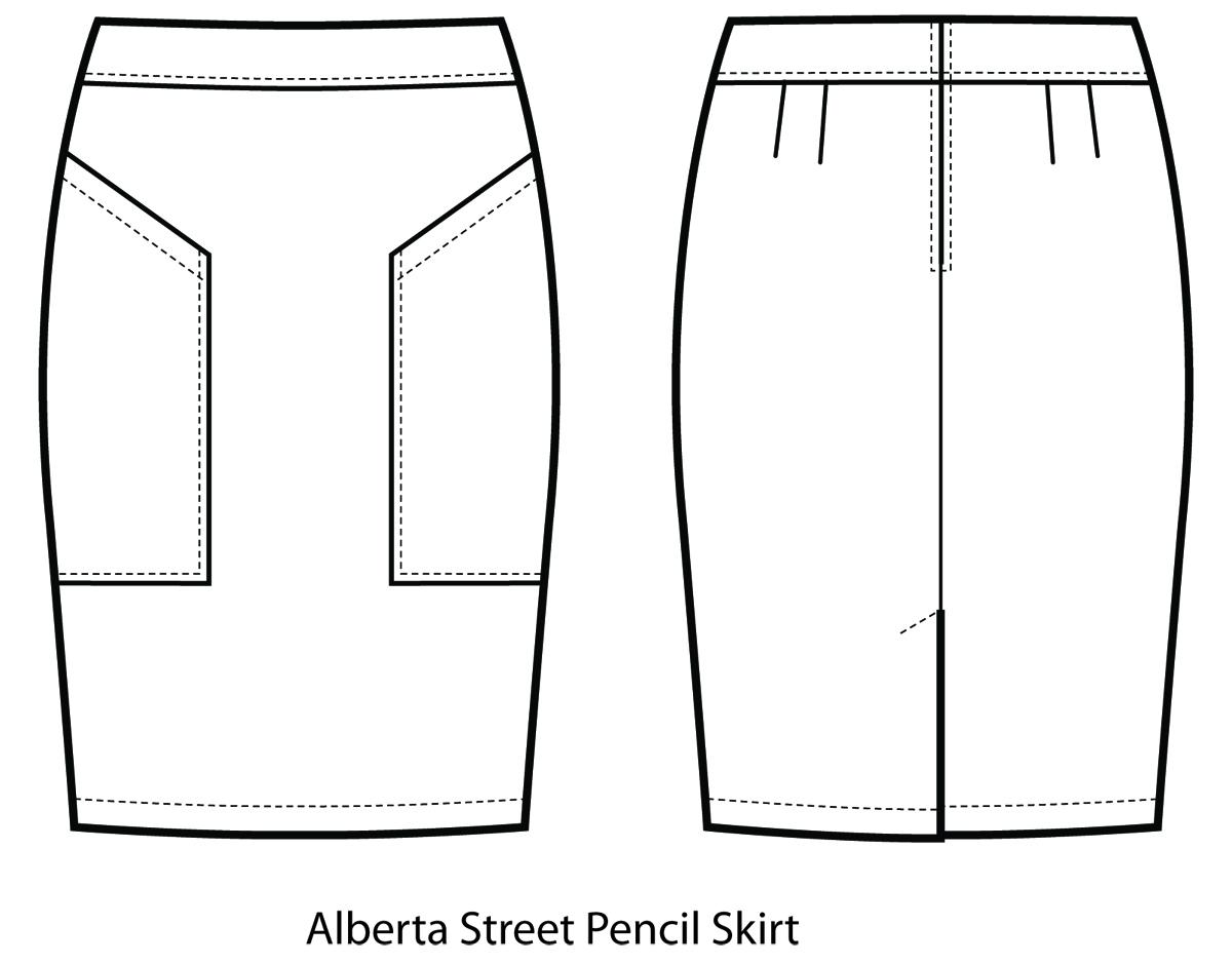 sew house seven 102 alberta pencil skirt sewing pattern