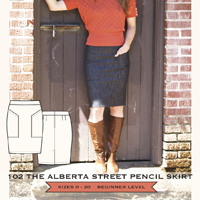 Sew House Seven Alberta Street Pencil Skirt Paper Pattern
