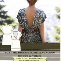 Sew House Seven The Bridgetown Backless Dress & Tunic Digital Pattern