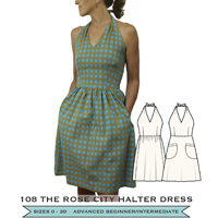Sew House Seven Rose City Halter Dress Paper Pattern