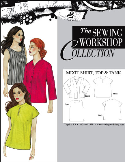 Sewing Workshop MixIt Shirt, Top & Tank Pattern