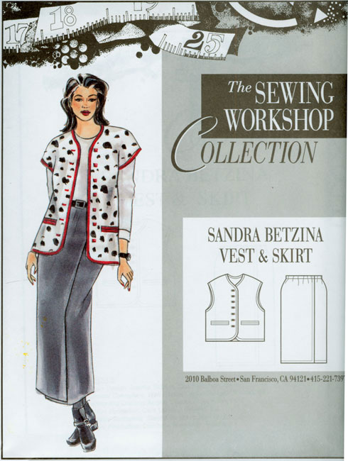 Sewing Workshop Sandra Betzina Vest & Skirt Pattern