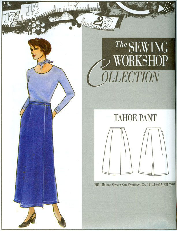 Sewing Workshop Tahoe Pants Pattern