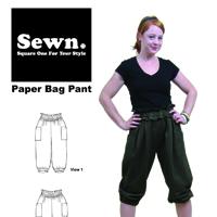 Sewn Square One Paper Bag Pant Pattern
