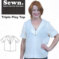 Sewn Square One Triple Play Top Pattern
