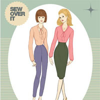 Sew Over It Pussy Bow Blouse Digital Pattern