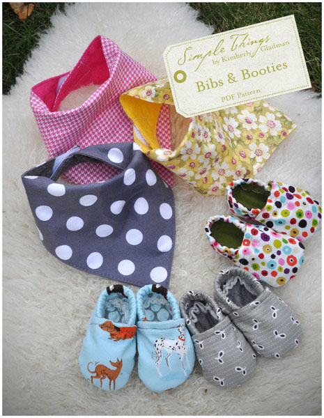 Simple Things Bibs and Booties Downloadable Pattern Bibs and Booties