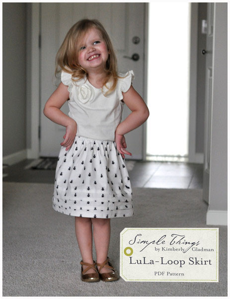 Simple Things Lula Loop Skirt Downloadable Pattern Lula Loop Skirt
