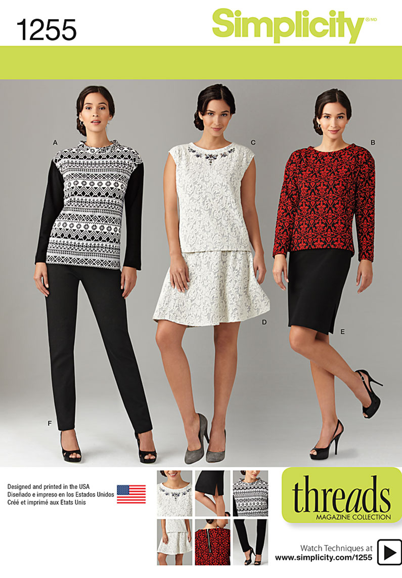 Simplicity Misses' and Miss Plus Knit Tops, Pants and Skirts 1255