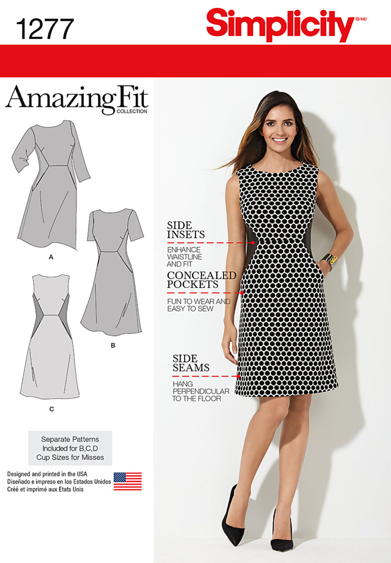 Patterns simplicity dresses 1277 miss and plus amazing fit