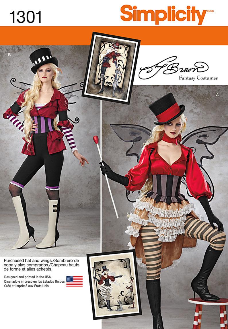 Simplicity Misses' Victorian Circus Costumes 1301