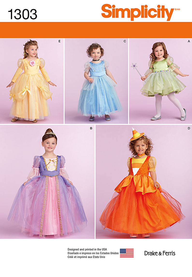 Simplicity Toddlers' and Child's Costumes 1303