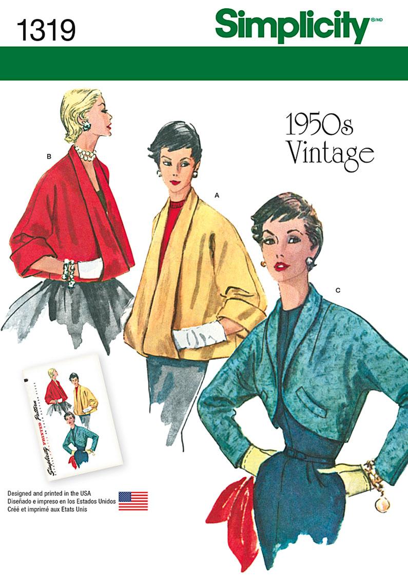 Simplicity Misses' Set of Vintage Jackets 1319