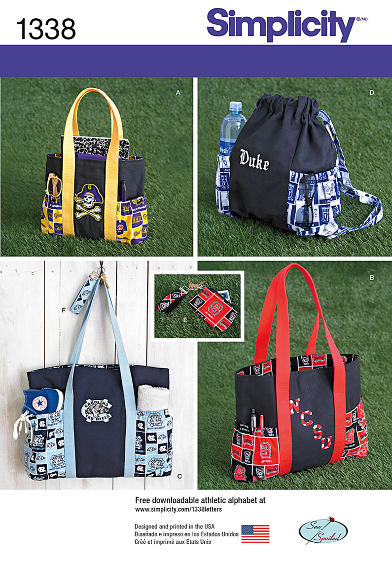Simplicity Tote Bags in 3 Sizes, Backpack and Coin Purse 1338