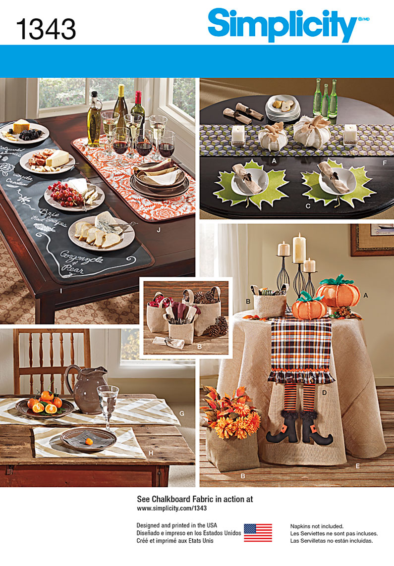 Simplicity Autumn Table Accessories 1343