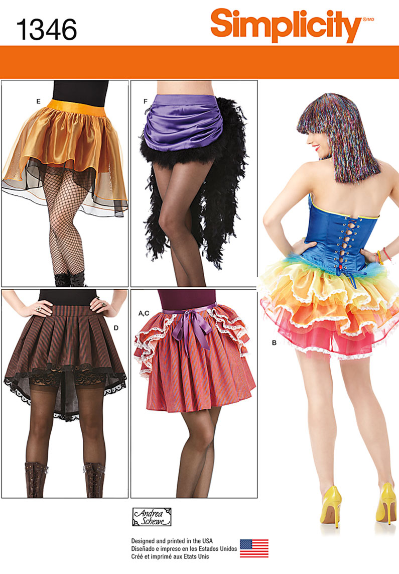 Simplicity Misses' Costume Skirts and Bustles 1346