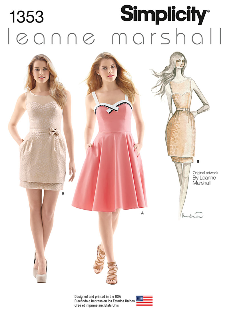 Simplicity Misses' Dresses Leanne Marshall Collection 1353
