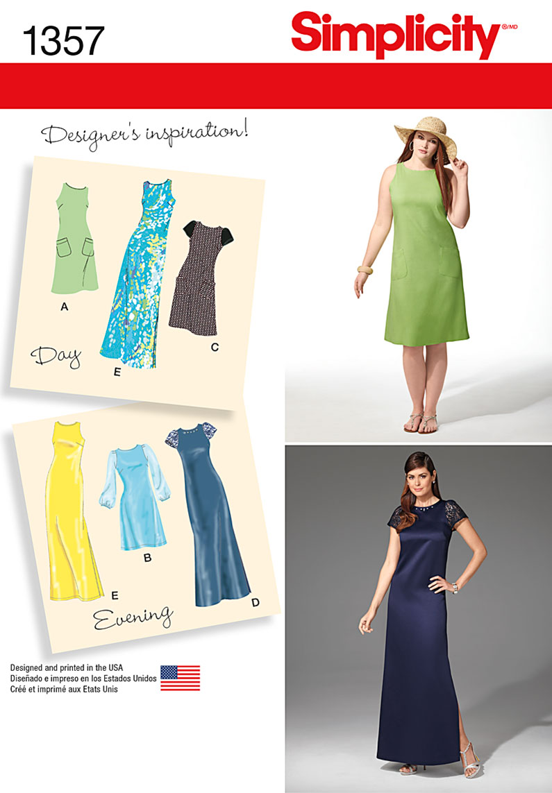 Simplicity Misses' and Miss Plus Dress in Two Lengths 1357