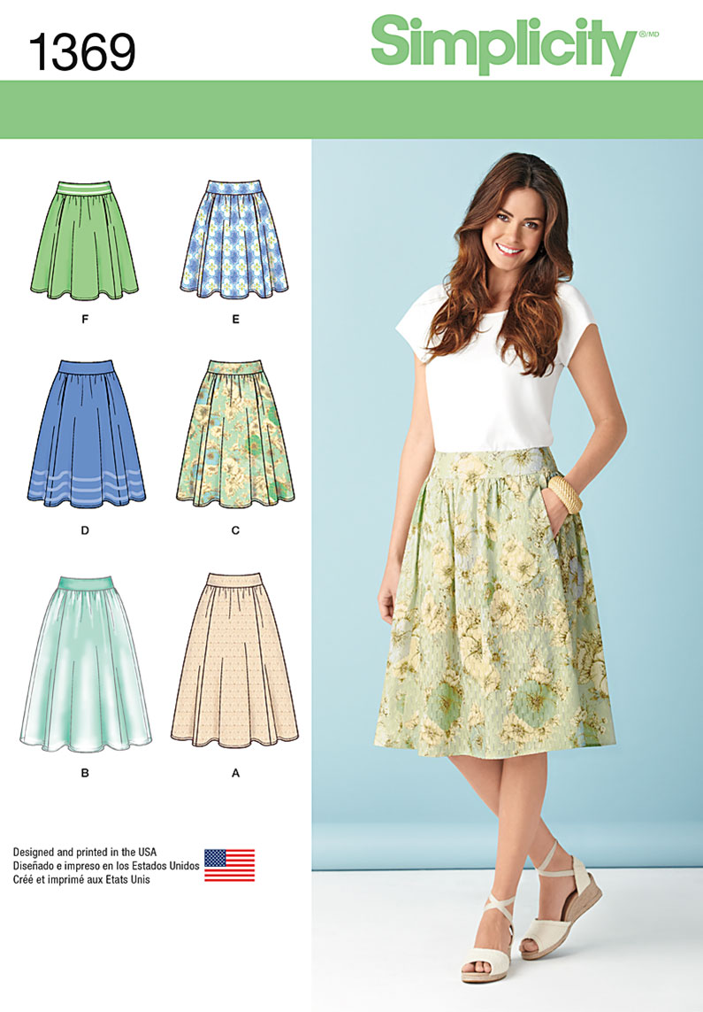 Simplicity Misses' Skirts in Three Lengths 1369