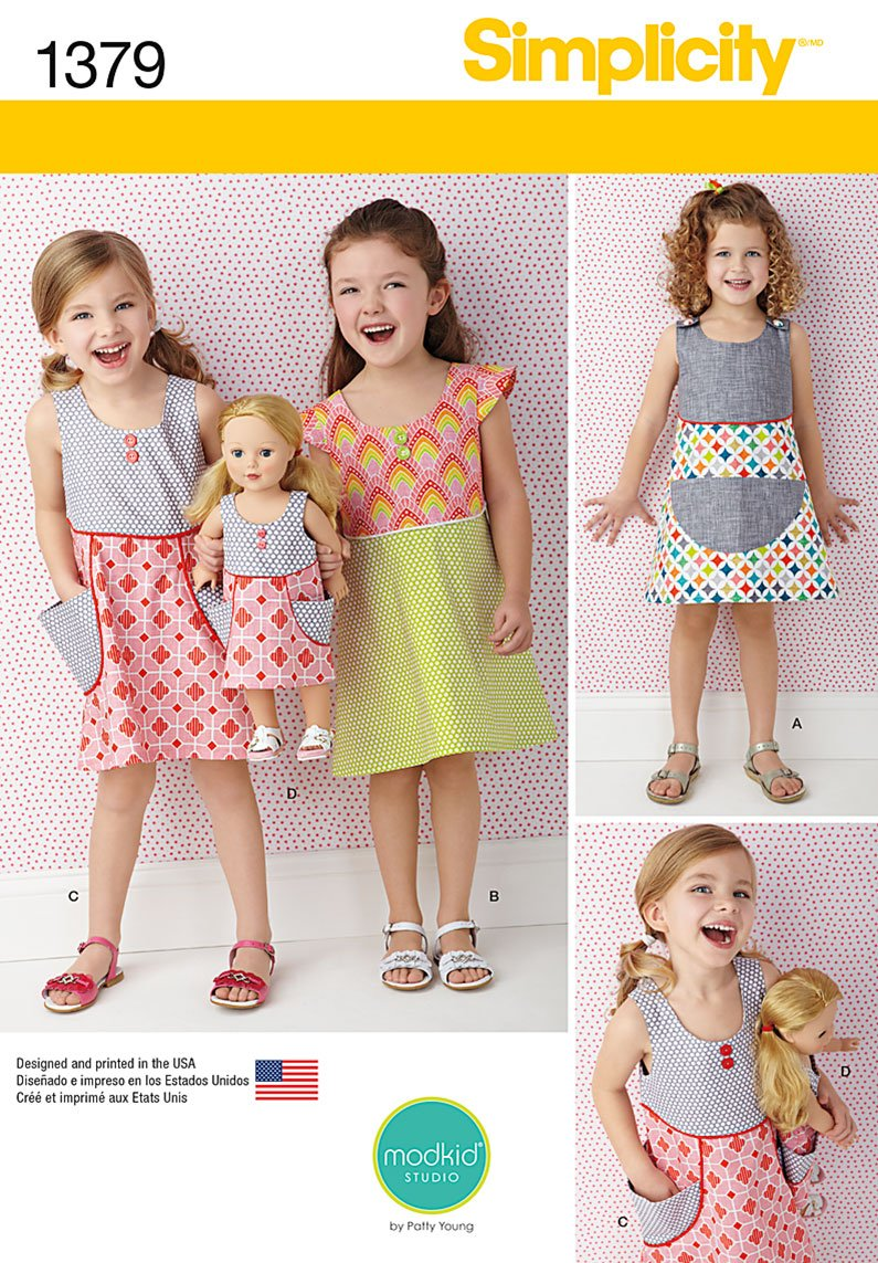 Simplicity Child's Dress and Dress for 18