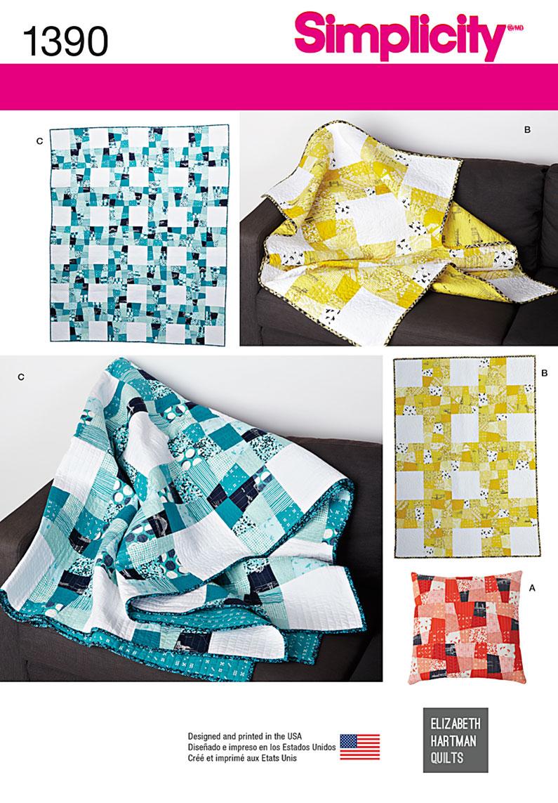 Simplicity Wonky Nine Quilt Set 1390