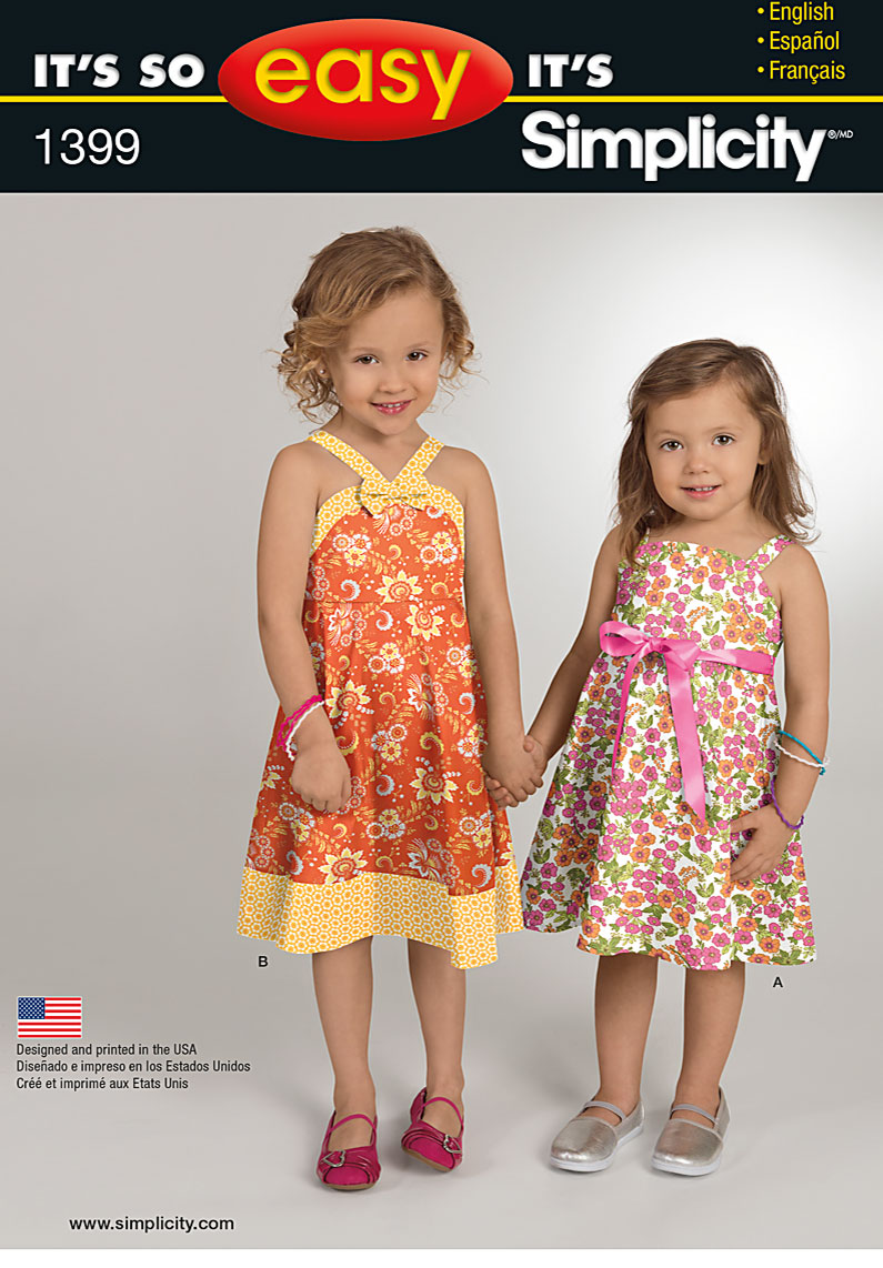 Simplicity It's So Easy Toddlers' and Child's Dress 1399