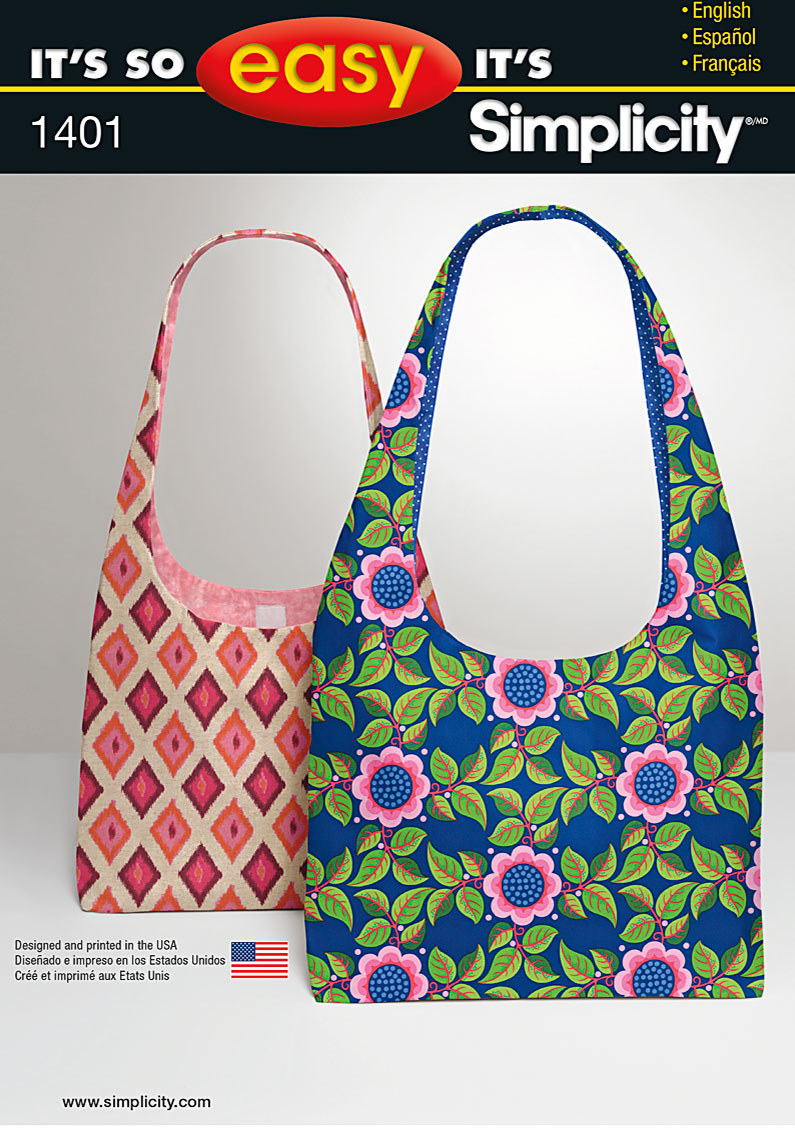 Simplicity It's So Easy Bag with Contrast Interior 1401