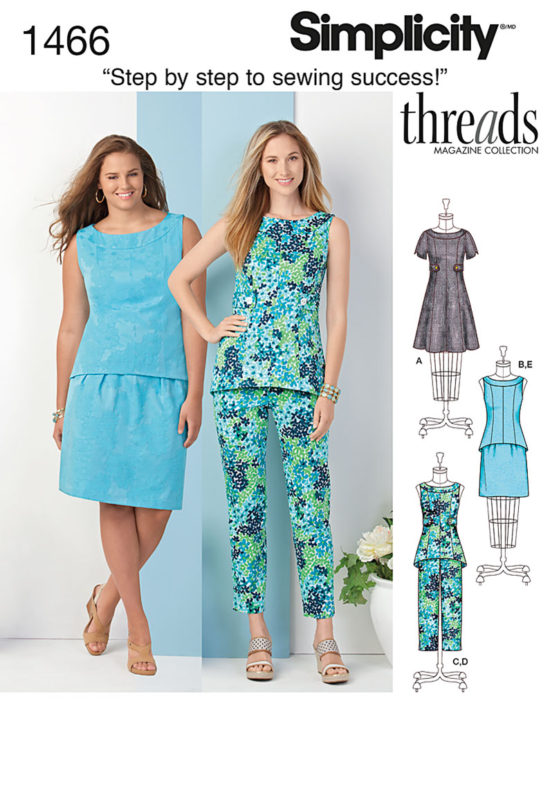 Simplicity Misses' & Plus Dress, Tunic or Top, Skirt & Pants 1466