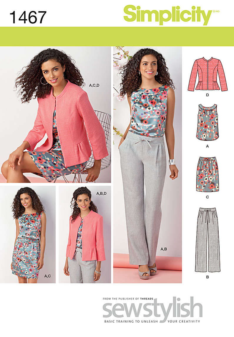 Simplicity Misses' & Miss Petite Top, Jacket, Pants & Skirt 1467