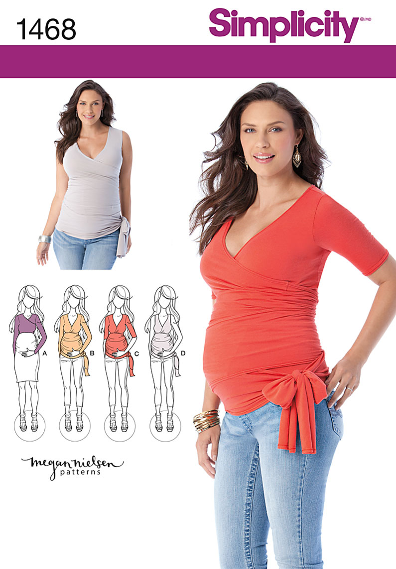 Simplicity Misses' Knit Maternity Tops 1468