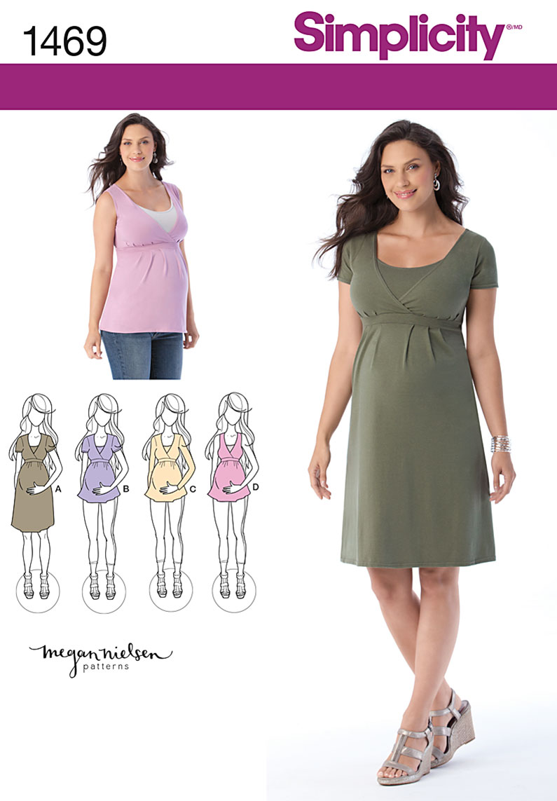 Simplicity Maternity and Nursing Knit Top or Dress 1469