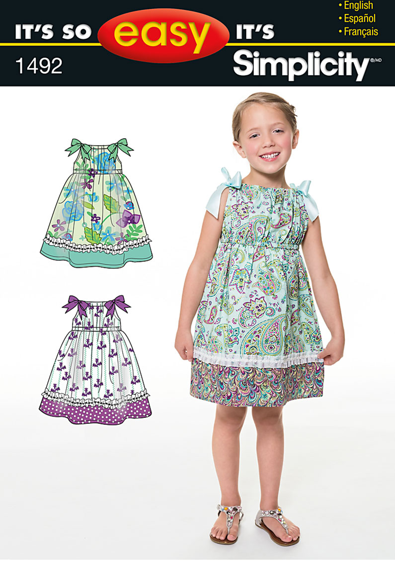 Simplicity It's So Easy Child's Dress 1492