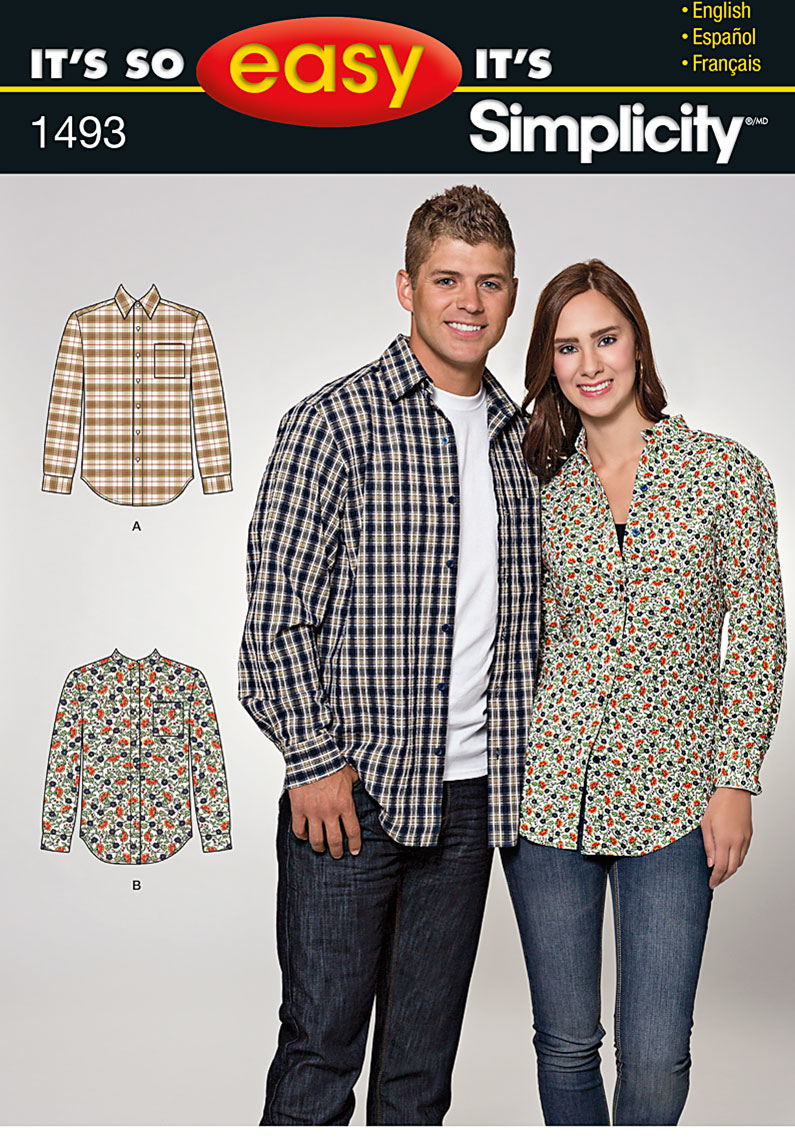 Simplicity It's So Easy Misses' and Men's shirt 1493