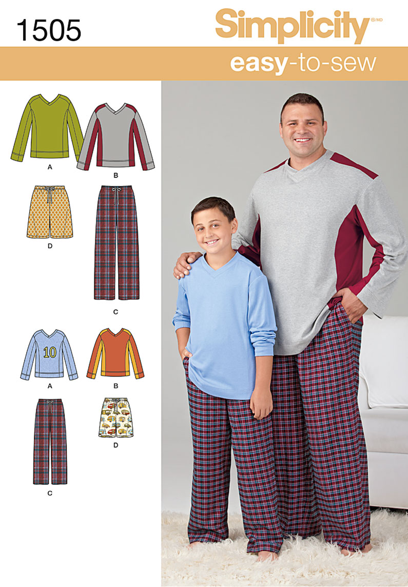 Simplicity Husky Boys' & Big & Tall Men's Tops and Pants 1505