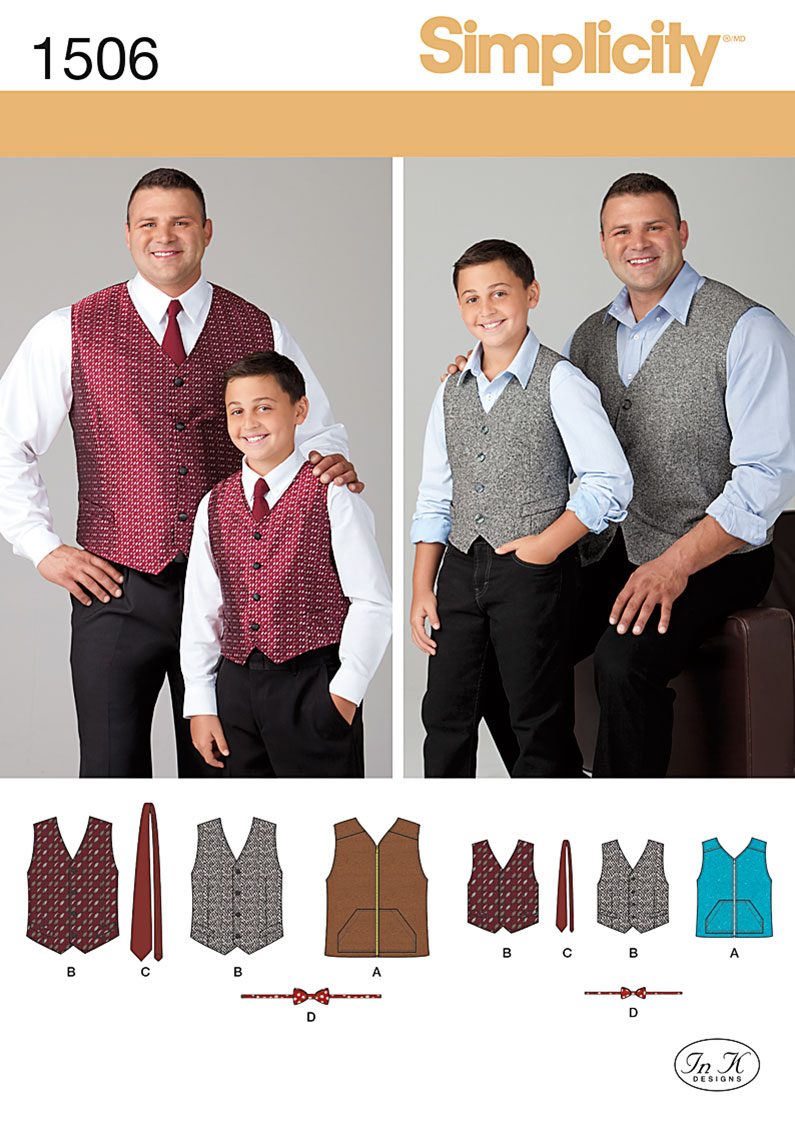 Simplicity Husky Boys' and Big and Tall Men's Vests 1506