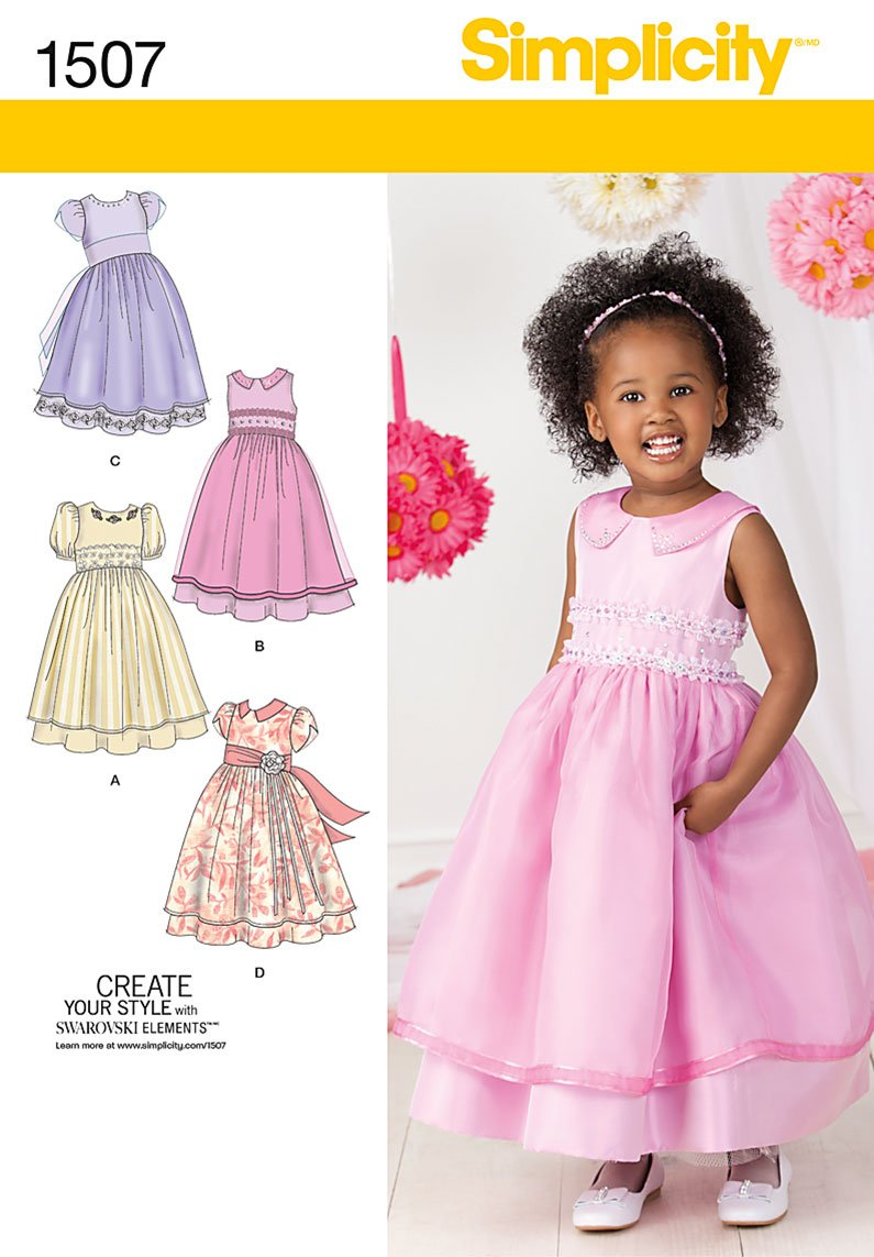 Simplicity Toddlers' and Child's Special Occasion Dress 1507