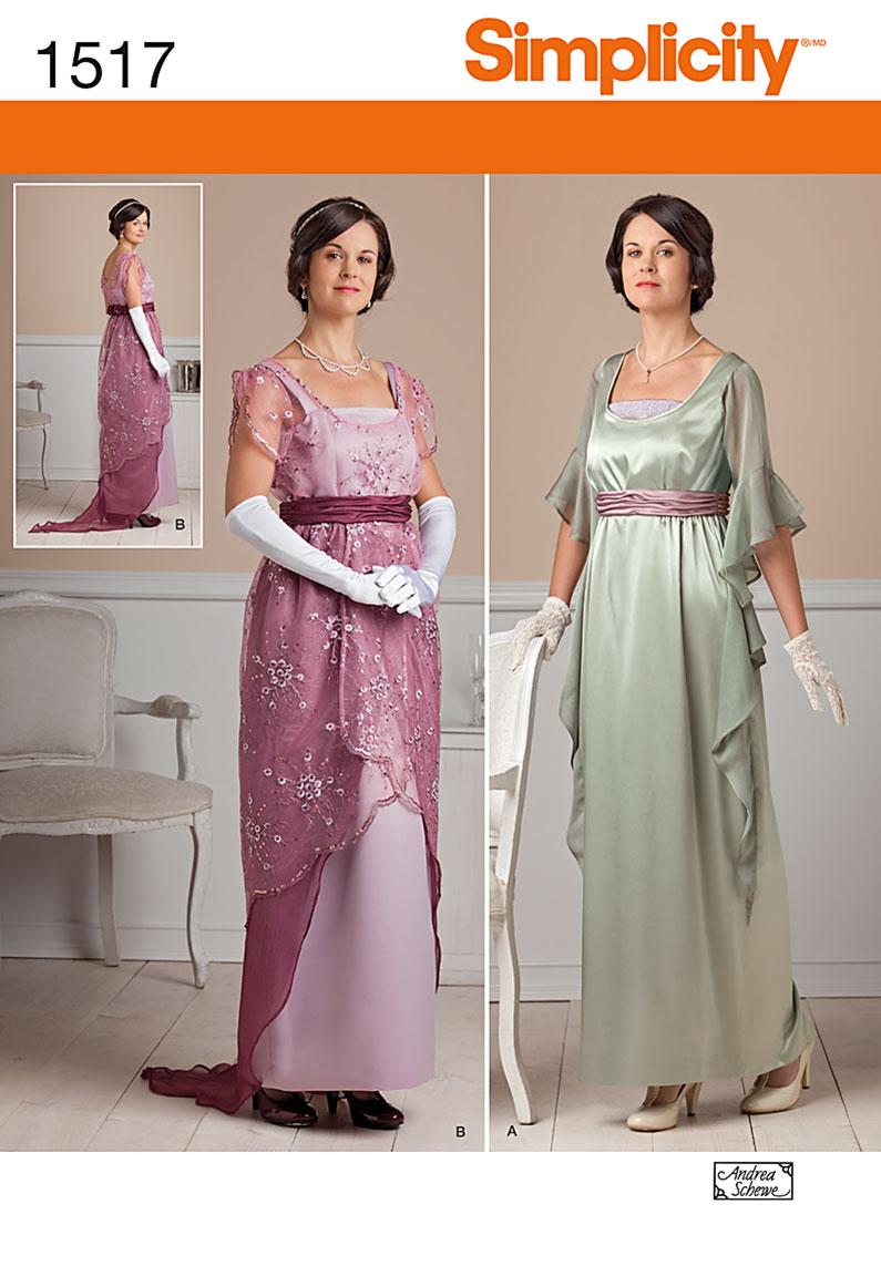 Simplicity Misses' Edwardian Style Dresses 1517