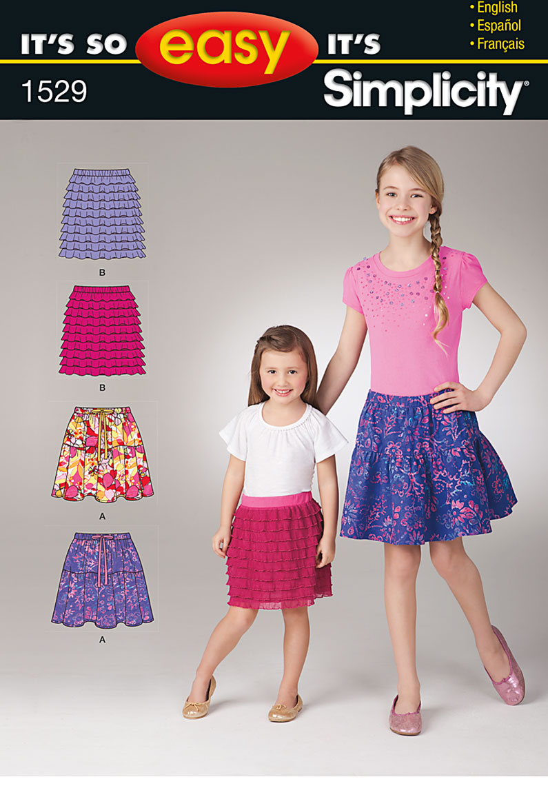 Simplicity It's so Easy Child's and Girls' Skirts 1529