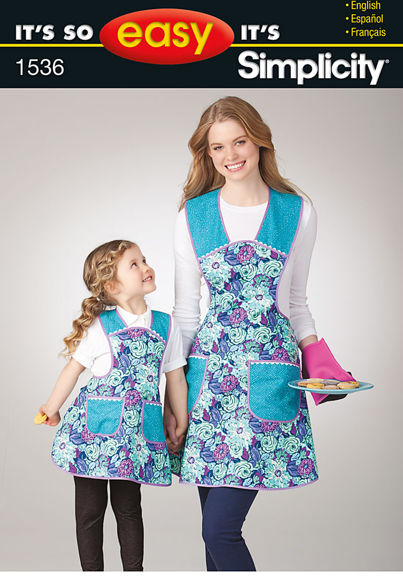 Simplicity It's So Easy Child's and Misses' Apron 1536