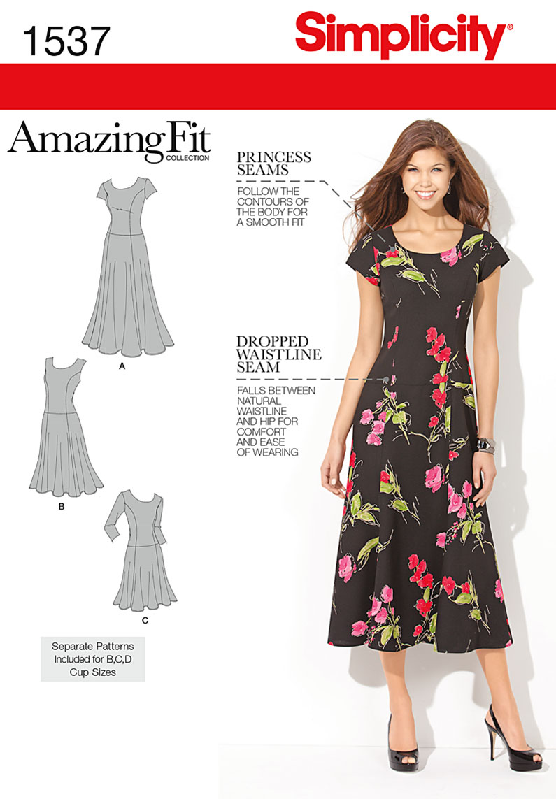 Simplicity Misses' and Plus Size Amazing Fit Dress 1537