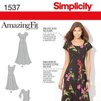 Simplicity 1537 Pattern ( Size 10-12-14-16-18 )