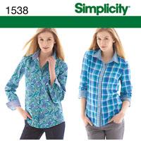Simplicity 1538 Pattern ( Size 6-8-10-12-14 )
