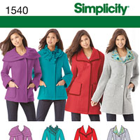 Simplicity 1540 Pattern ( Size 6-8-10-12-14 )