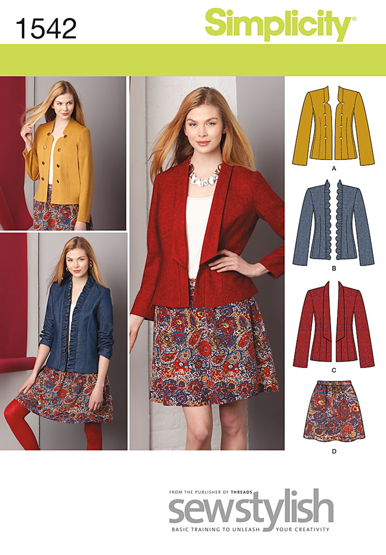 Simplicity Misses' Jacket and Skirt 1542