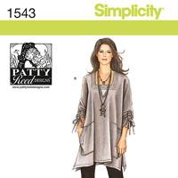 Simplicity 1543 Pattern ( Size XXS-XS-S-M-L-XL-XXL )