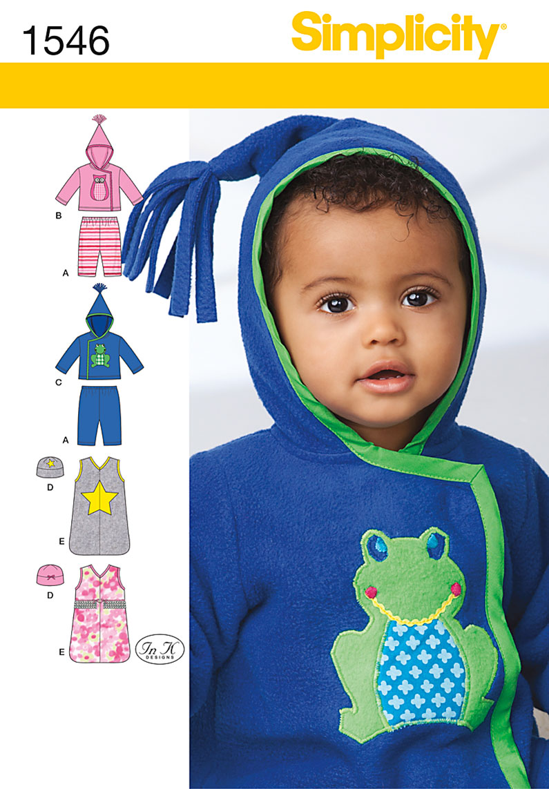Simplicity Babies' Knit Separates 1546