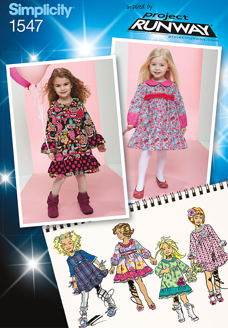 Simplicity Toddlers' and Child's Project Runway Dresses 1547